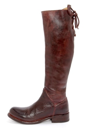 Bed Stu Manchester II Teak Rustic Leather Riding Boots