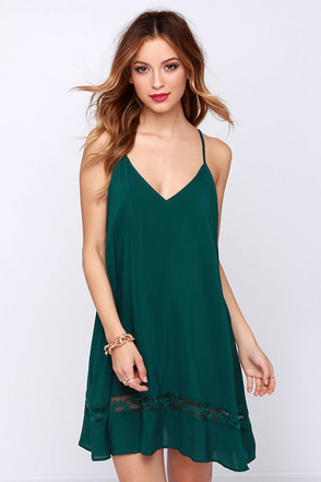 Just Getting Started Teal Blue Lace Dress at Lulus.com!