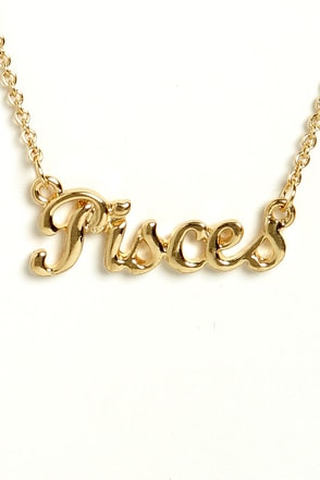 Zodiac Attack Gold Pisces Necklace
