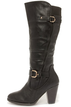 Cute in the Middle Black High Heel Boots at Lulus.com!