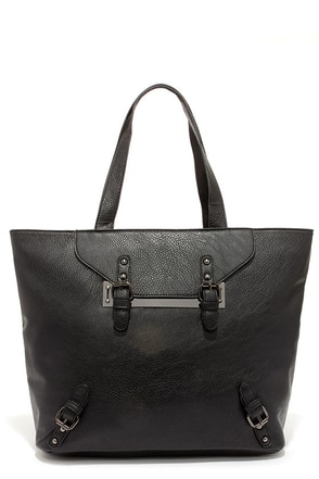 Shotgun Rider Black Tote at Lulus.com!