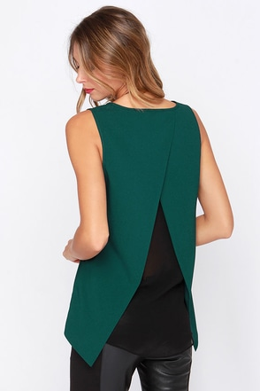 Any Moment Now Dark Teal Top at Lulus.com!