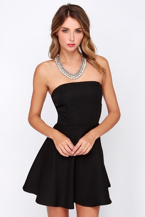 Dancing Darling Black Strapless Dress at Lulus.com!