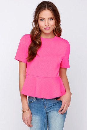 Glamorous Absolutely Vivid Neon Pink Top at Lulus.com!