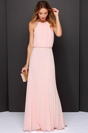 Bariano Melissa Peach Maxi Dress at Lulus.com!