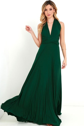 Tricks of the Trade Forest Green Maxi Dress 1