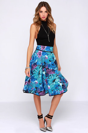 Abstract Mind Ivory Padded Midi Skirt at Lulus.com!