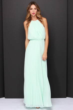 LULUS x Bariano Melissa Mint Maxi Dress at Lulus.com!