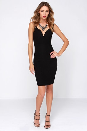 LULUS Exclusive Pin Up to No Good Black Midi Dress at Lulus.com!