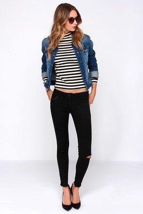Born to Rock Black Distressed Jeans at Lulus.com!