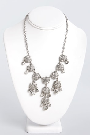 To Diamond For Silver Rhinestone Necklace