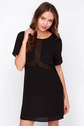 Dee Elle Free For the Weekend Black Shift Dress at Lulus.com!