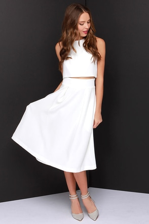 Rubber Ducky On Your Behalf Ivory Two-Piece Dress at Lulus.com!