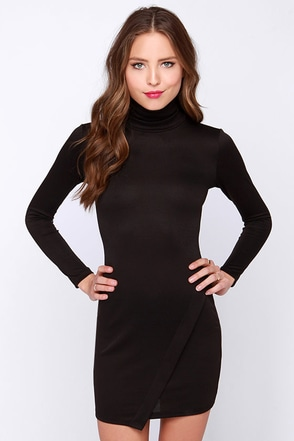 LULUS Exclusive Perfect Timing Black Long Sleeve Dress at Lulus.com!