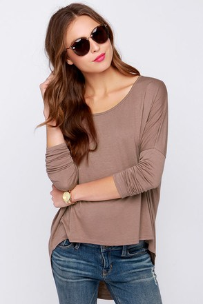 LULUS Exclusive Make Your Move Brown Long Sleeve Top at Lulus.com!