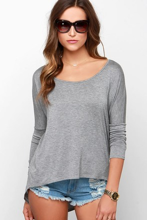 LULUS Exclusive Make Your Move Grey Long Sleeve Top at Lulus.com!