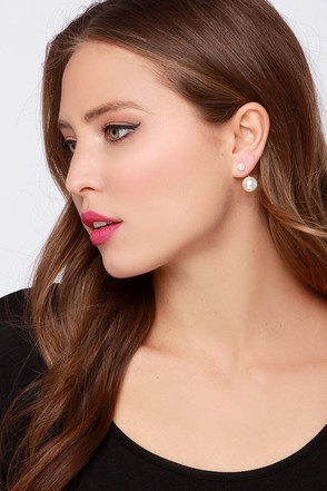 You're Pearl-fect Gold and Pearl Ear Jackets at Lulus.com!
