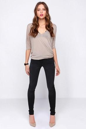 Turn Down for Strut Washed Black Skinny Jeans at Lulus.com!