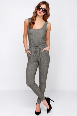 LULUS Exclusive One-Two Punch Grey Jumpsuit at Lulus.com!
