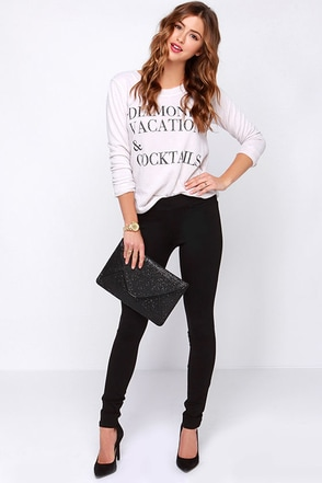 Dittos Laura Black Leggings at Lulus.com!