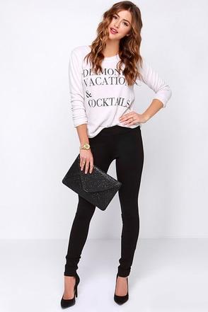Dittos Laura Black Leggings at Lulus.com!