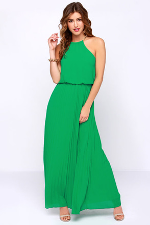 Without Further Ado Green Maxi Dress at Lulus.com!