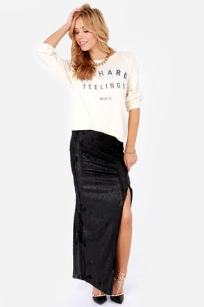 Blaque Label Mind Over Matter Black Sequin Maxi Skirt
