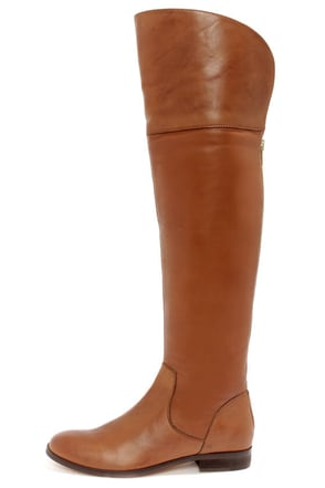 Luichiny Peg Gee Cognac Leather Over the Knee Riding Boots at Lulus.com!