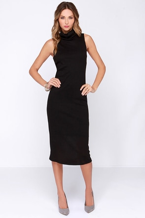 Get Carried Away Black Midi Dress at Lulus.com!