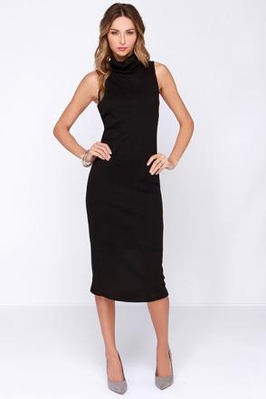 Get Carried Away Black Midi Dress at Lulus.com!