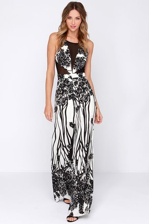 One Fine Print Black and Ivory Print Jumpsuit at Lulus.com!