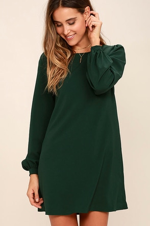 Perfect Situation Grey Long Sleeve Shift Dress at Lulus.com!
