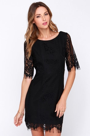 Kiss and Run Ivory Lace Dress at Lulus.com!