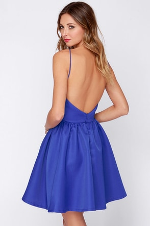 Chic and Repeat Blue Backless Dress at Lulus.com!