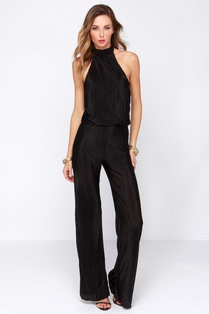 Be My Lover Black Halter Jumpsuit at Lulus.com!