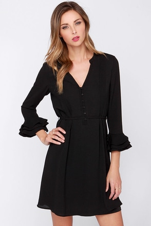 Maggie May Black Dress at Lulus.com!