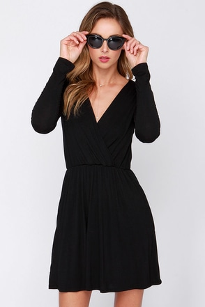 Alakazam Grey Long Sleeve Dress at Lulus.com!