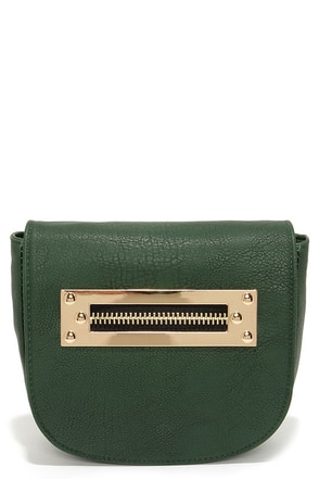 Zip the Light Fantastic Forest Green Purse at Lulus.com!