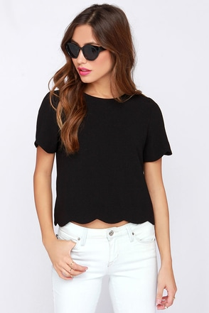 Rhythm and Flow Black Top at Lulus.com!