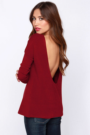 LULUS Exclusive Won't Back Down Burgundy Long Sleeve Sweater Top at Lulus.com!