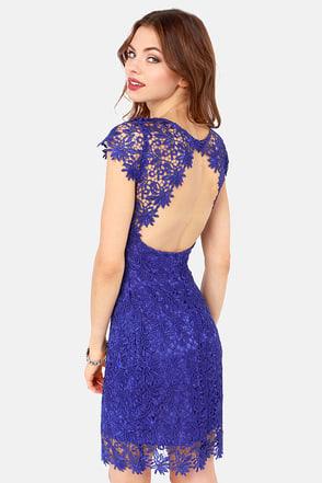 Rubber Ducky Dress - Royal Blue Dress - Lace Dress - $137.00 - photo #7