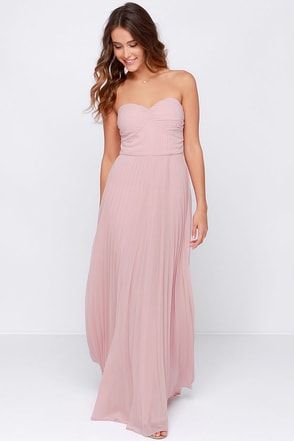 LULUS Exclusive Always Charming Strapless Light Blue Maxi Dress at Lulus.com!