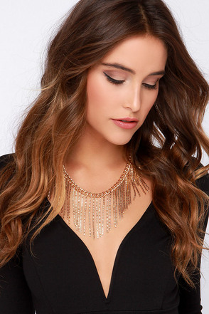 Lion's Mane Gold Chain Necklace at Lulus.com!