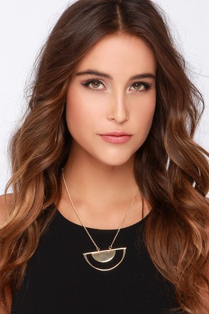 Halfway Around the World Gold Necklace at Lulus.com!