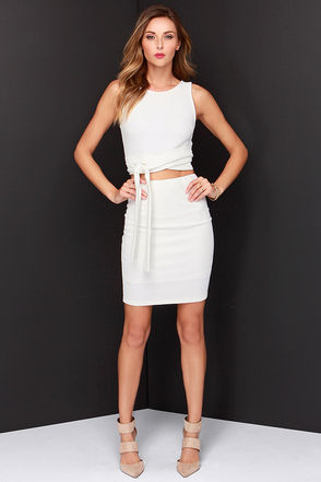 Daily Dos Ivory Two-Piece Dress at Lulus.com!