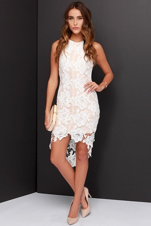 Keepsake I Will Wait Ivory Lace Dress at Lulus.com!