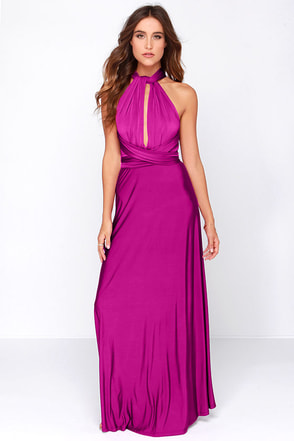 Always Stunning Convertible Magenta Maxi Dress at Lulus.com!