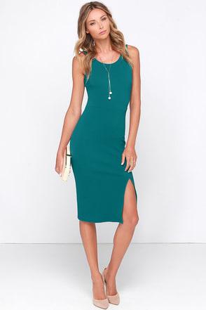 LULUS Exclusive Sweet Nothings Teal Blue Midi Dress at Lulus.com!