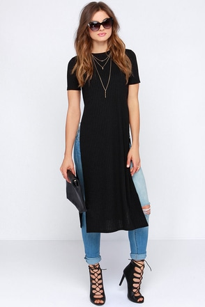 Lovin' the Crew Neck Black Maxi Top at Lulus.com!