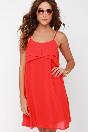 Into the Tropics Red Shift Dress at Lulus.com!